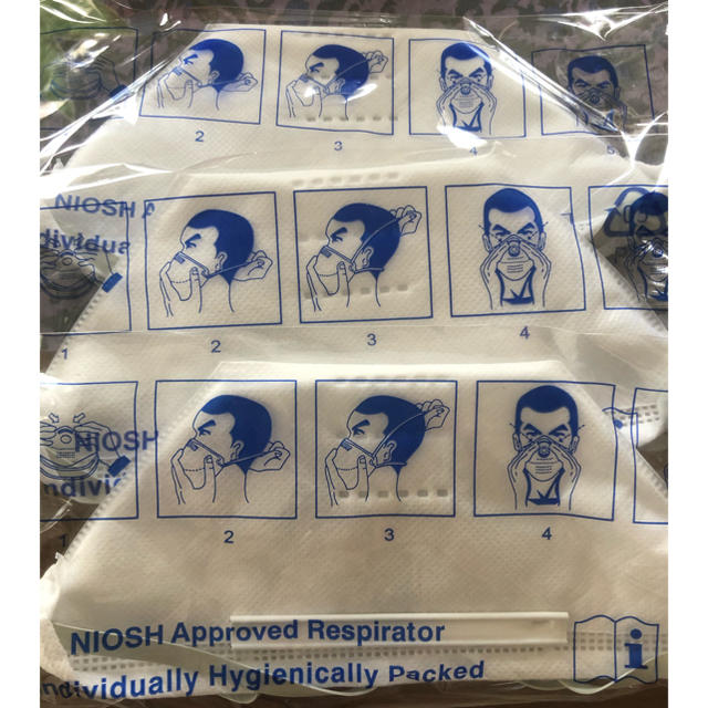 マスク付き農園フード - NIOSH N95 SH2950高機能マスク3枚セットの通販 by momomo22's shop