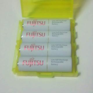 フジツウ(富士通)の富士通 FDK 単3 充電池 4本 ニッケル 水素 HR-3UTC 日本製(その他)