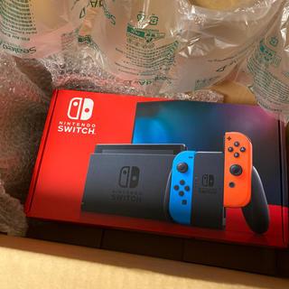 ニンテンドースイッチ(Nintendo Switch)のニンテンドースイッチ 本体 ネオンブルー バッテリー強化(家庭用ゲーム機本体)