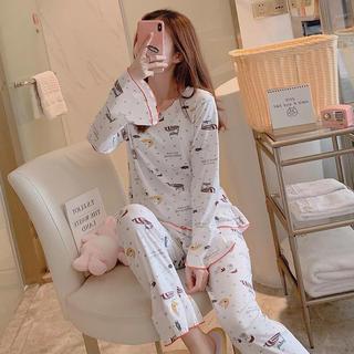 ラヴィジュール(Ravijour)のスヌーピー ルームウェア つるつるパジャマ セットアップ 大きいサイズ(パジャマ)