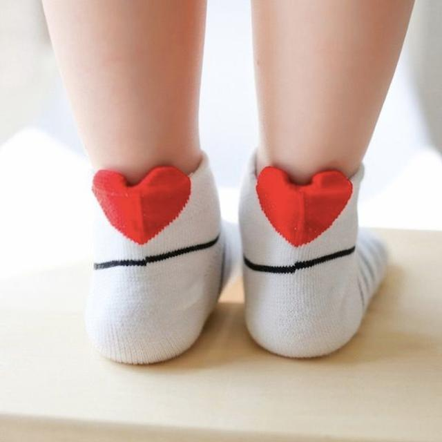 petitNATS❤ハートパステル踝B《20〜22cm》〔ms17036-xl〕 キッズ/ベビー/マタニティのこども用ファッション小物(靴下/タイツ)の商品写真
