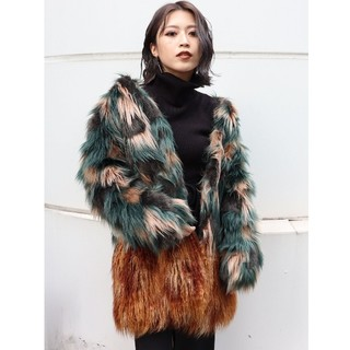 ムルーア(MURUA)のMURUA☆ミックスフェイクファーコート(毛皮/ファーコート)