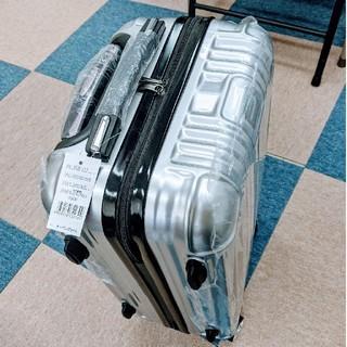 キャスコ(Kasco)の再値下げ!新品 Kasco スーツケース シルバー 軽量(旅行用品)