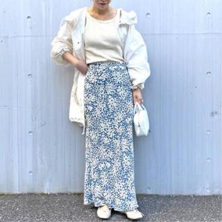 エディットフォールル(EDIT.FOR LULU)のさあやさん ヴィンテージフラワーマキシスカート ブルー 34(ロングスカート)