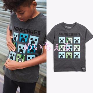マイクロソフト(Microsoft)の【新品】チャコール Minecraft スパンコールTシャツ(オールド)(Tシャツ/カットソー)