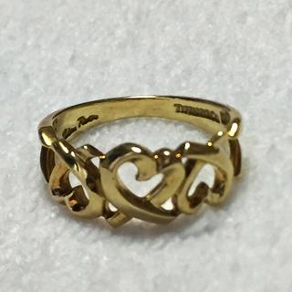 ティファニー(Tiffany & Co.)のTIFFANY&CO K18 トリプル ラビングハート リング(リング(指輪))
