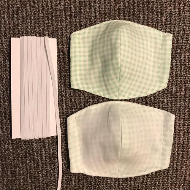 マスク手作り簡単ハンカチ 、 ダブルガーゼマスク 手作りマスク 2枚セット 男女兼用の通販