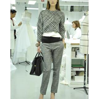 クリスチャンディオール(Christian Dior)の美品 Dior ディオール 13pre パンツ 36 グレー 千鳥格子(カジュアルパンツ)