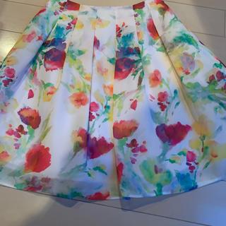 エムズグレイシー(M'S GRACY)のエムズグレイシー ♡水彩画スカート(ひざ丈スカート)