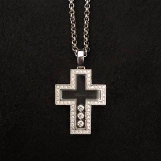 ショパール(Chopard)のChopard ショパール◆ダイアモンド ネックレス◆ペンダント◆クロス 十字架(ネックレス)