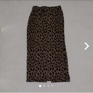 アナップ(ANAP)のレオパード スカート(ひざ丈スカート)