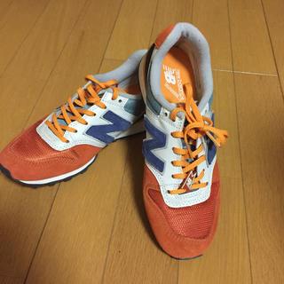ニューバランス(New Balance)のニューバランス 996 オレンジ ネイビー  美品 (スニーカー)
