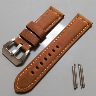 オフィチーネパネライ(OFFICINE PANERAI)の腕時計バンド レザーベルト 24mm パネライなどの大型時計に!(レザーベルト)