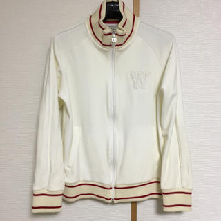 ウィルソン(wilson)のウィルソン Wilson ジャージ テニス 白 ベロア 起毛 (トレーナー/スウェット)