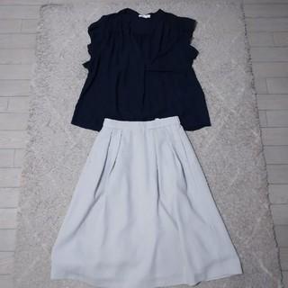エージーバイアクアガール(AG by aquagirl)のby aquagirlトップス、UNIQLOスカート(Tシャツ(半袖/袖なし))