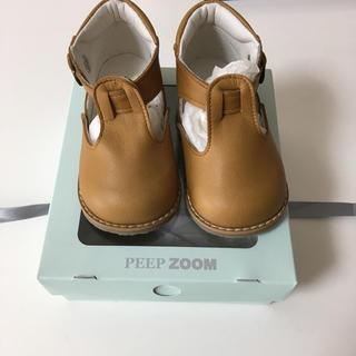 ズーム(Zoom)のPEEP ZOOM ストラップシューズ 靴 13センチ(フラットシューズ)