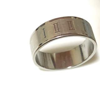 同時購入で300円 ステンレス指輪ローマ数字(リング(指輪))