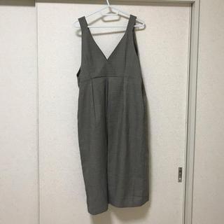 イッカ(ikka)のikka チェック ジャンパースカート(ひざ丈ワンピース)