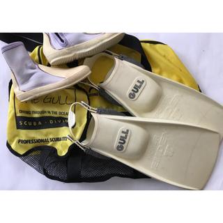 ガル(GULL)のダイビング フィン&ブーツ 23.5cm メッシュバックのおまけ付き(マリン/スイミング)