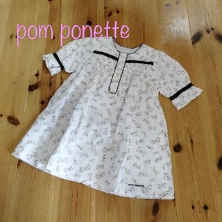 ポンポネット(pom ponette)の【110】ポンポネット シャツワンピース チュニック(ワンピース)