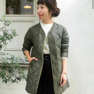 ルクールブラン(le.coeur blanc)のノーカラーキルティングコート(ノーカラージャケット)