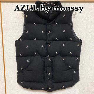 アズールバイマウジー(AZUL by moussy)のAZUL by moussy ダウンベスト ドクロ柄 値下げ不可(ダウンベスト)