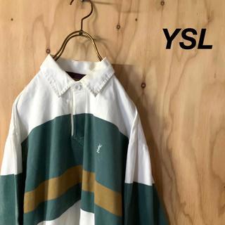 サンローラン(Saint Laurent)のOLD Yves Saint Laurent マルチカラーボーダーラグビーシャツ(シャツ)