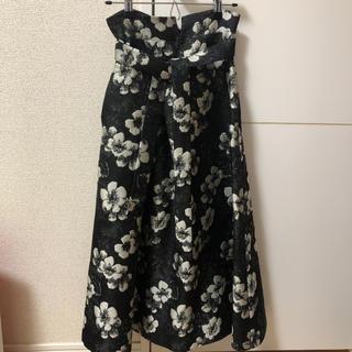 ファーファー(fur fur)のFUR FUR 花柄ジャガード織スカート(ロングスカート)