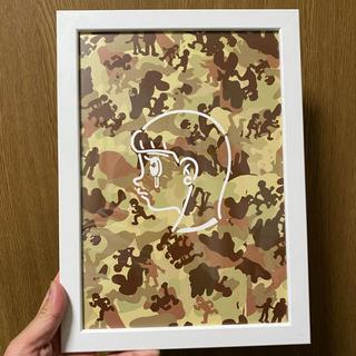 ジャーナルスタンダード(JOURNAL STANDARD)のハシヅメユウヤ 額装 バッジ kyne supreme NIKE ジャーナル(絵画/タペストリー)