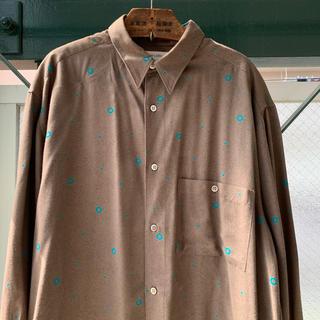 アートヴィンテージ(ART VINTAGE)の90s 古着 レーヨンシャツ とろみ ウール混 総柄シャツ オーバーサイズ 上質(シャツ)