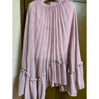 リルリリー(lilLilly)のRiLiSTORE ピンクドットスカート(ロングスカート)