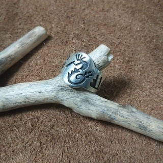 Indian - インディアンジュエリー ホピ族 ココペリ 水 モチーフ シルバーリング 指輪