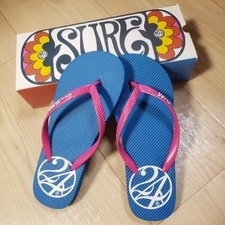 トゥエンティーフォーカラッツ(24karats)の24karats SURF☆ビーチサンダル☆レディース☆ブルー×ピンク☆新品(ビーチサンダル)