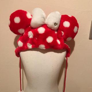 ディズニー(Disney)のミニー 帽子(イヤーマフ)