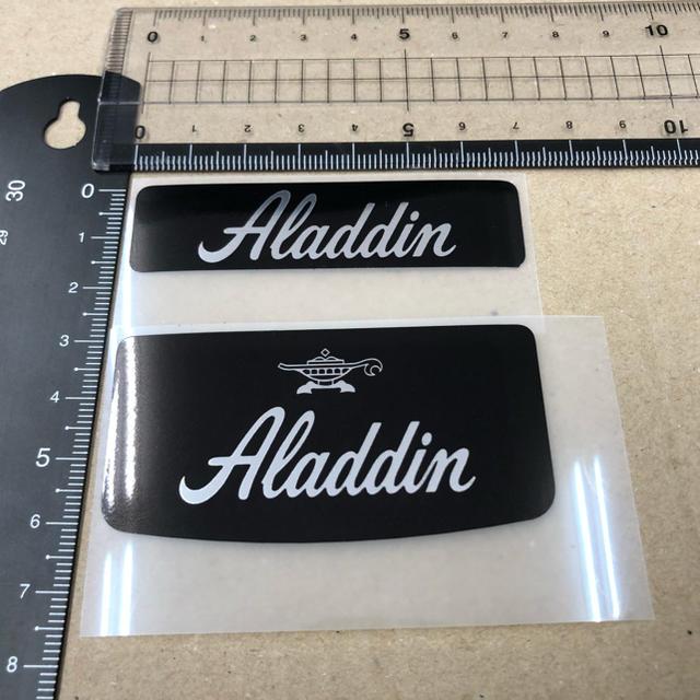 アラジンストーブ ステッカー シール 2枚セット スマホ/家電/カメラの冷暖房/空調(ストーブ)の商品写真