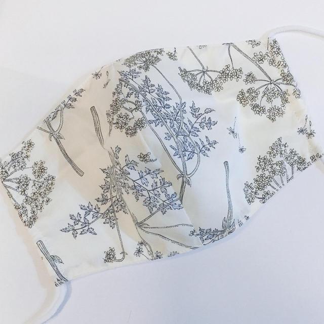 7リバティ♡白ガーゼ 布マスクの通販