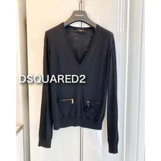 ディースクエアード(DSQUARED2)のディースクエアード  ブラック Vネック ニット セーター XS(ニット/セーター)