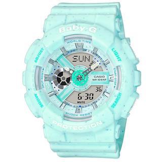 ベビージー(Baby-G)の BABY-G レディース腕時計 BA-110PI-2AJF ミントグリーン(腕時計)