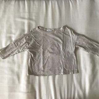 コドモビームス(こどもビームス)のディグリーン ベージュ ボーダー Tシャツ(シャツ/カットソー)