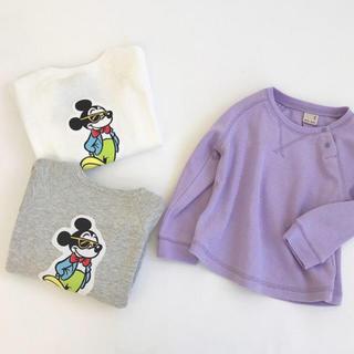 プティマイン(petit main)のミッキー パープル 90(Tシャツ/カットソー)