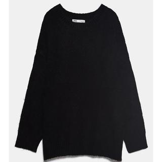 ザラ(ZARA)の!保留中! ZARA オーバーサイズセーター ブラック 黒 ニット(ニット/セーター)