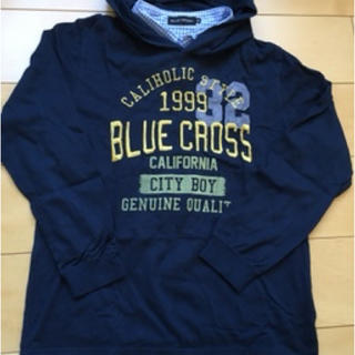 ブルークロス(bluecross)のブルークロスのフード付Tシャツ Mサイズ 美品♫(その他)