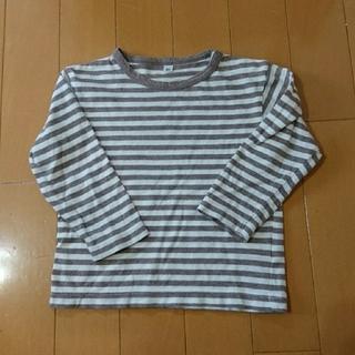 ムジルシリョウヒン(MUJI (無印良品))の無印 ロンTシャツ ボーダー 長袖 80㎝(Tシャツ)