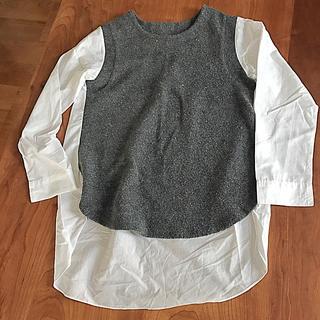 フロントと袖の切り替えがポイント!のブラウス(シャツ/ブラウス(長袖/七分))