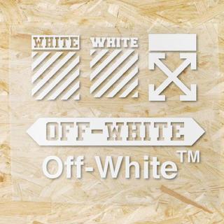 オフホワイト(OFF-WHITE)のアイロン熱転写ラバーシート off-white  5枚セット(その他)