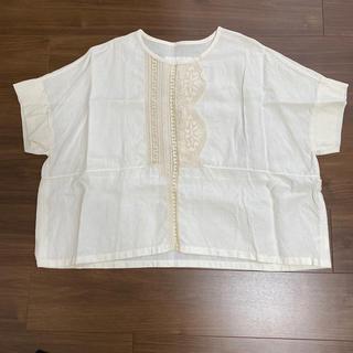 ネストローブ(nest Robe)のユニバーサルティシュのフィーレブラウス オフホワイト(シャツ/ブラウス(半袖/袖なし))
