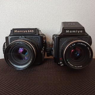 マミヤ(USTMamiya)のMamiya m645 80mm 1:2.8 2台セット (フィルムカメラ)
