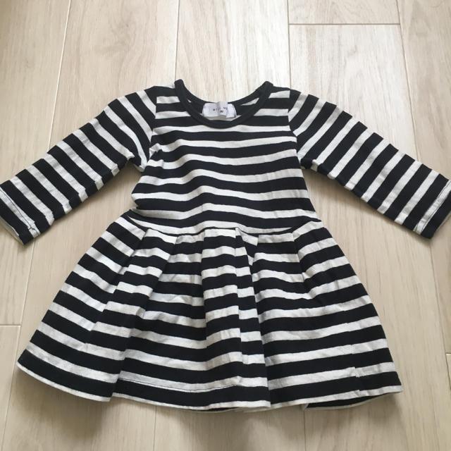 WILL MERY(ウィルメリー)のボーダーワンピース 80 WILLMERY キッズ/ベビー/マタニティのベビー服(~85cm)(ワンピース)の商品写真