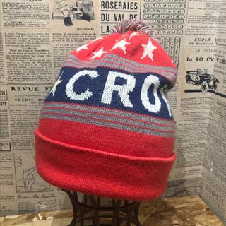 ロデオクラウンズ(RODEO CROWNS)のRODEO CROWNS ロデオクラウンズ ニット帽 ボンボンニット帽 サイズF(ニット帽/ビーニー)