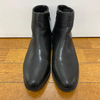 ユニクロ(UNIQLO)のユニクロ ブーツ 黒 ブラック 24.0(ブーツ)